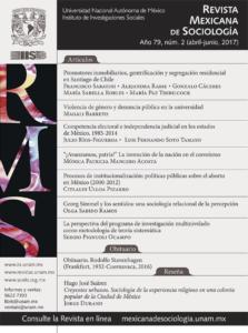 Revista Mexicana de Sociología año 79, núm. 2