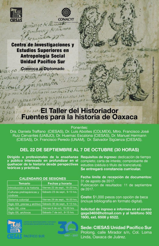 Diplomado: El taller del historiador