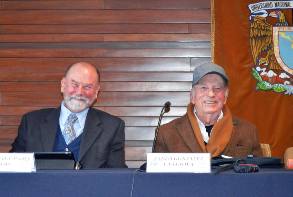Foto: Dr. Paoli Bolio y Dr. Pablo González Casanova