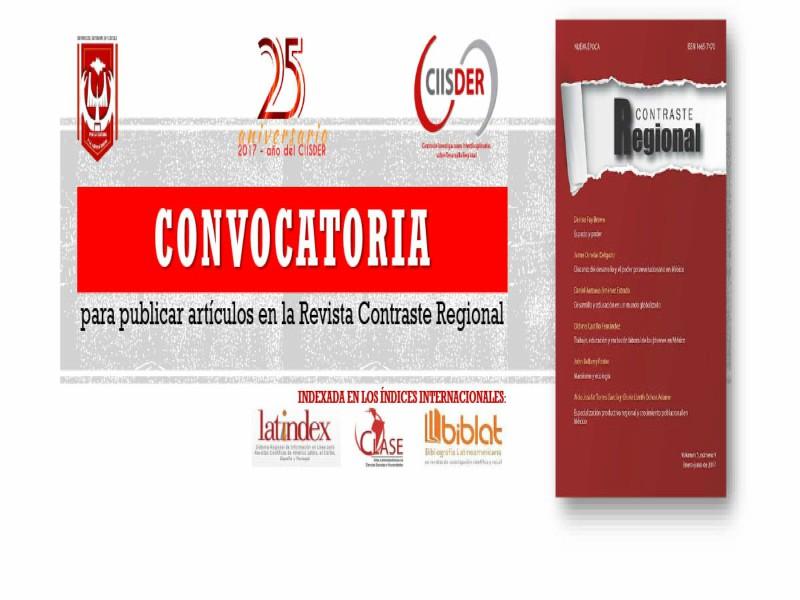 Convocatoria Revista Contraste Regional
