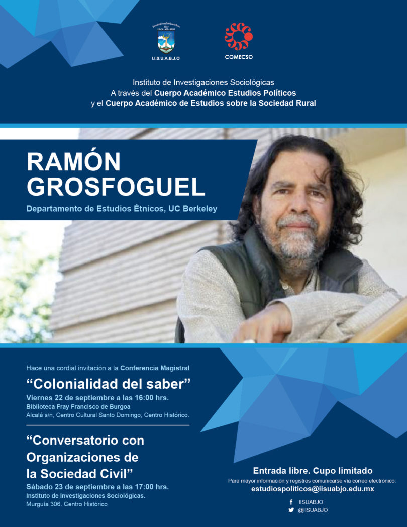 Conferencia magistral: Colonialidad del saber