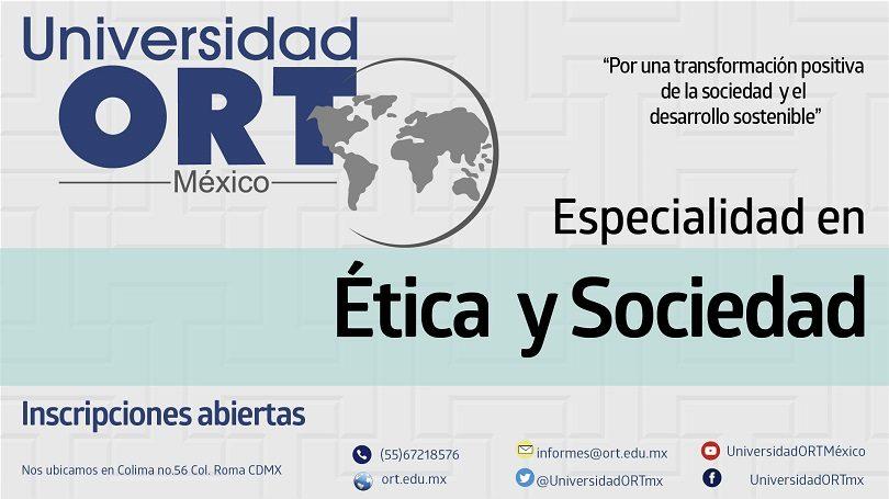 Especialidad en Ética y Sociedad