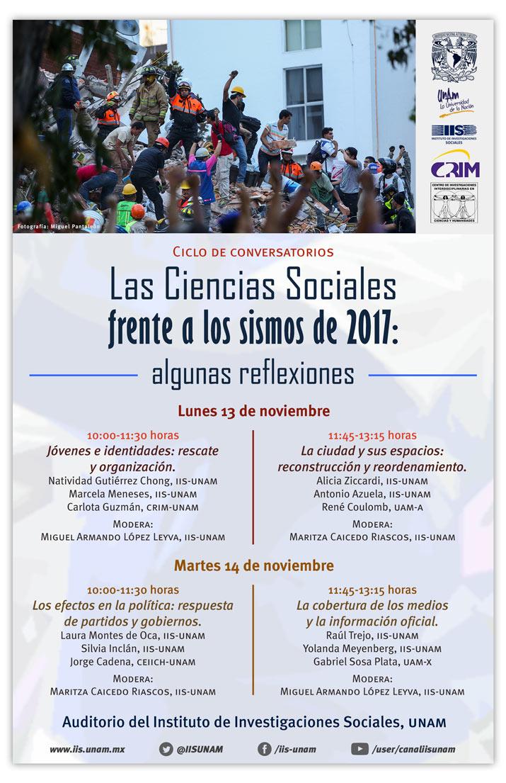 Cartel: Las Ciencias Sociales frente a los sismos