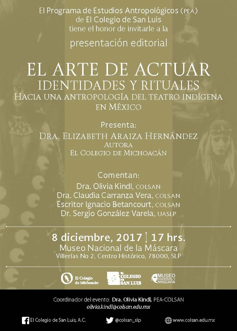 """Cartel """"El arte de actuar, identidades y rituales"""""""