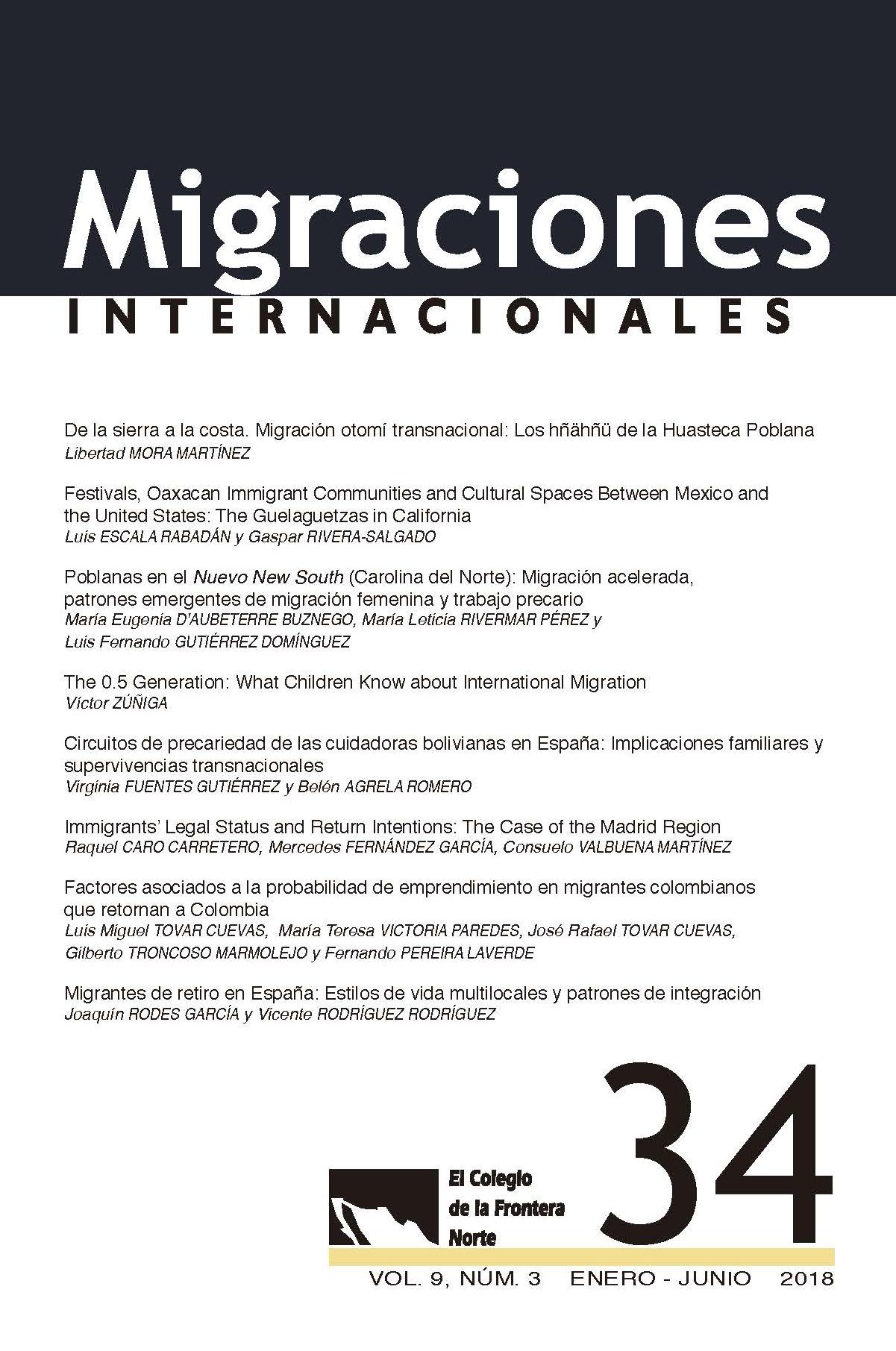 Portada Migraciones Internacionales No. 34