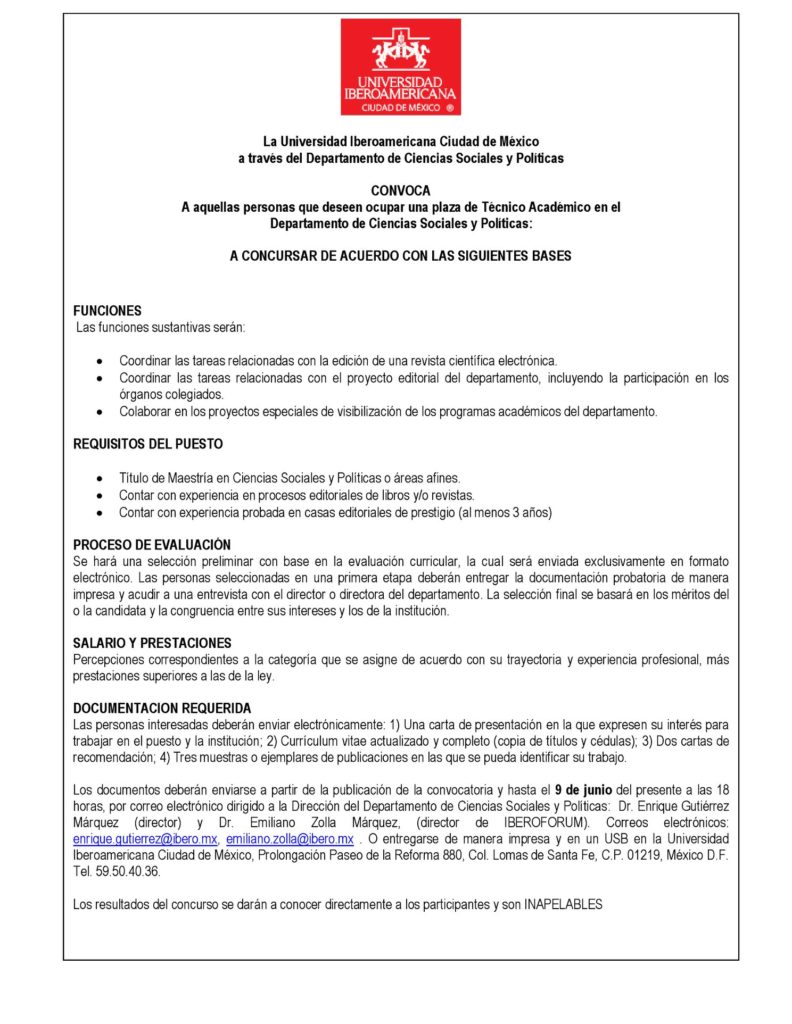 Plaza técnico académico | IBERO