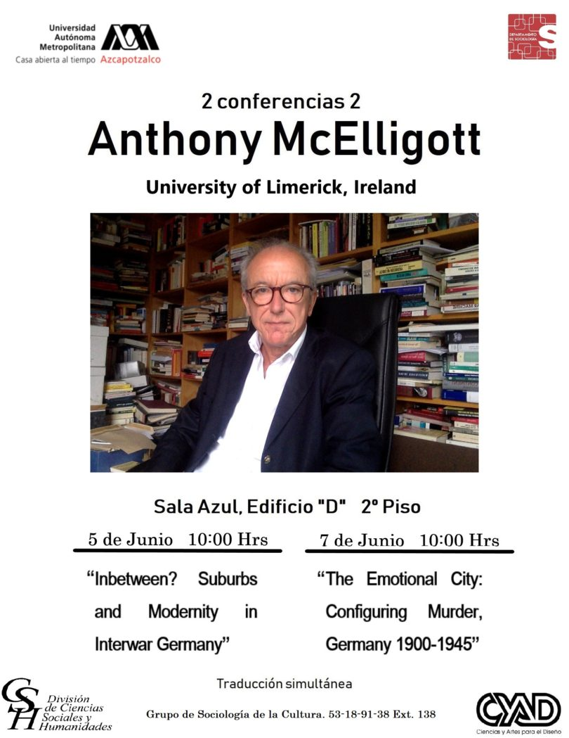 Conferencias Anthony McElligott | UAM-A