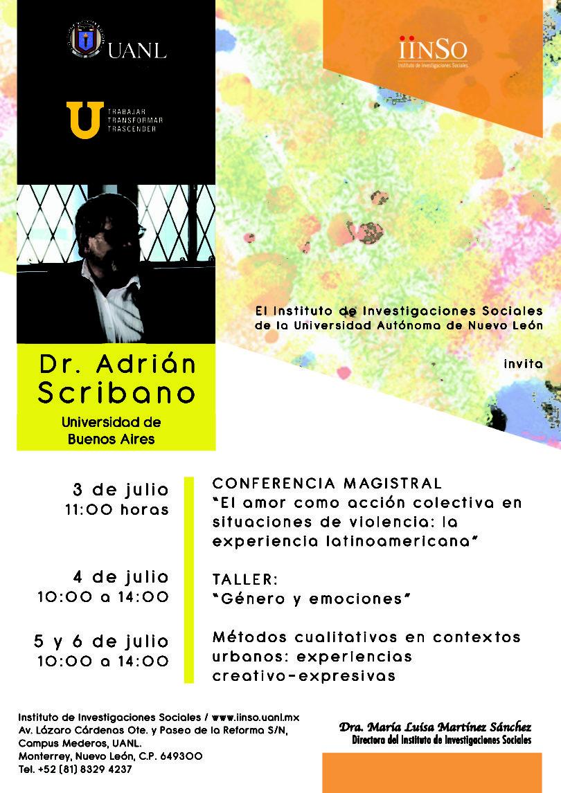 Conferencia magistral Dr. Adrián Scribano