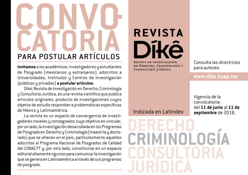 Convocatoria Revista Díkê