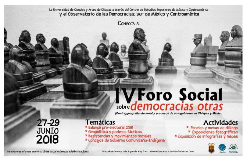 IV Foro social sobre democracias otras