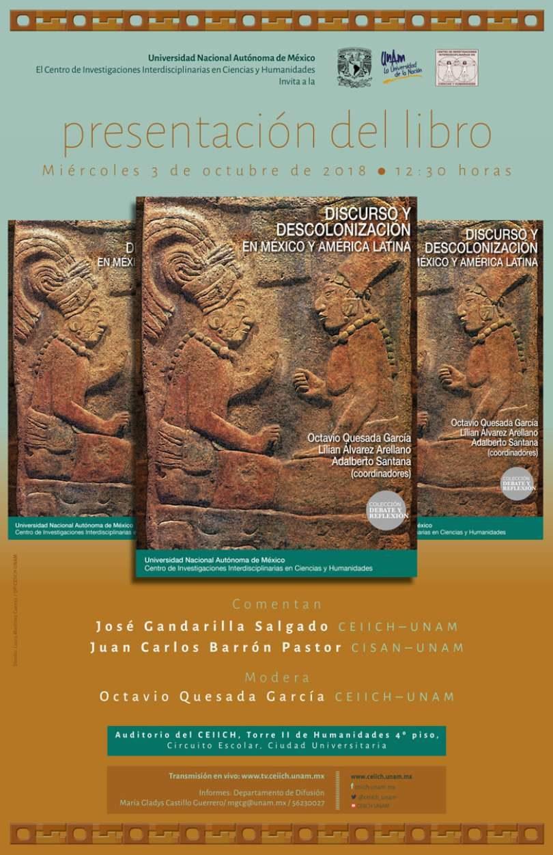 Presentación del libro: Discurso y Descolonización en México y América Latina