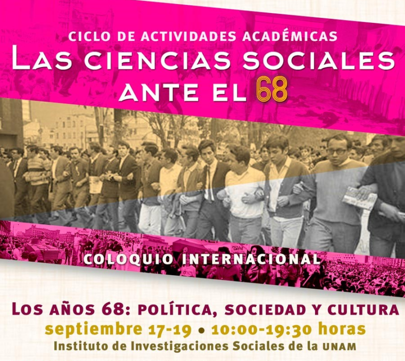 Coloquio internacional. Los años 68: política, sociedad y cultura