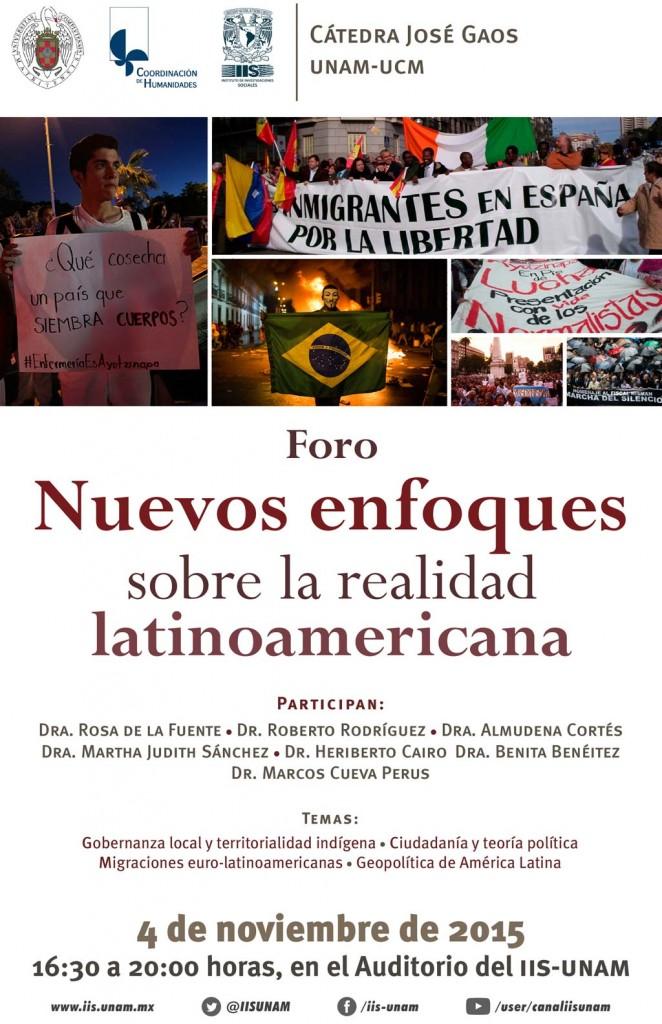 FORO NUEVOS ENFOQUES IIS UNAM