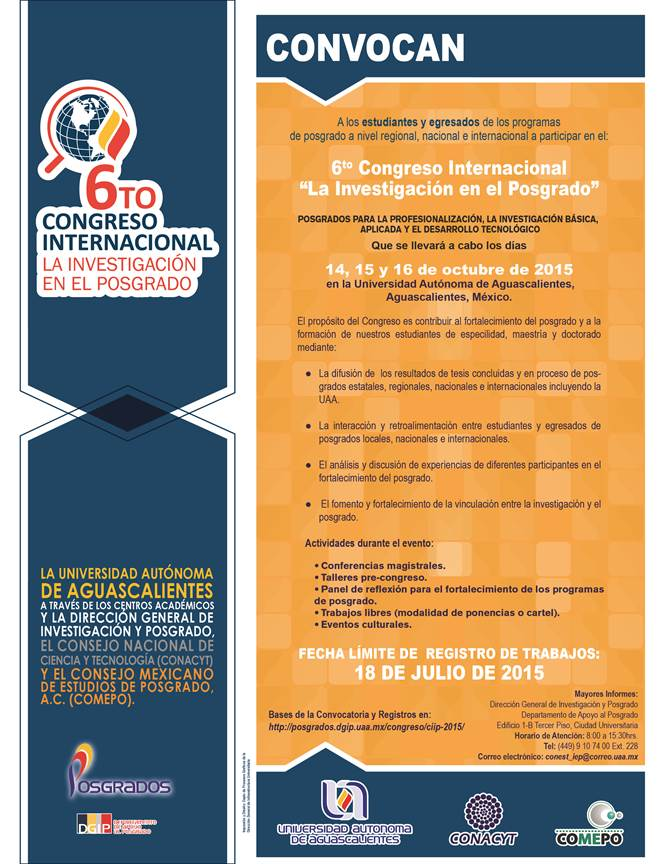 6TO CONGRESO UAA