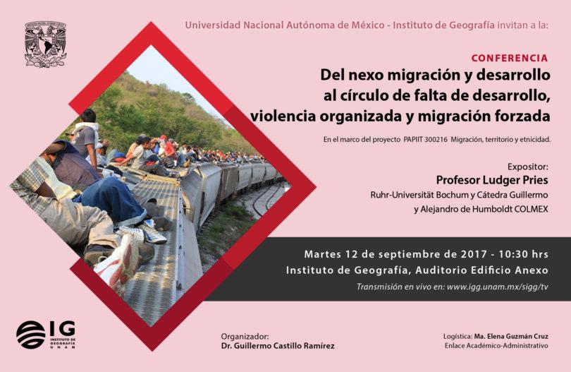 Conferencia sobre migración-Ludger Pries