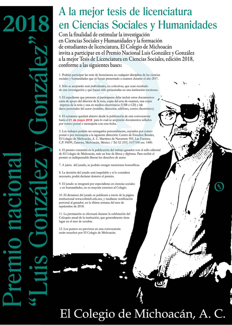 Premio Nacional Luis González 2018