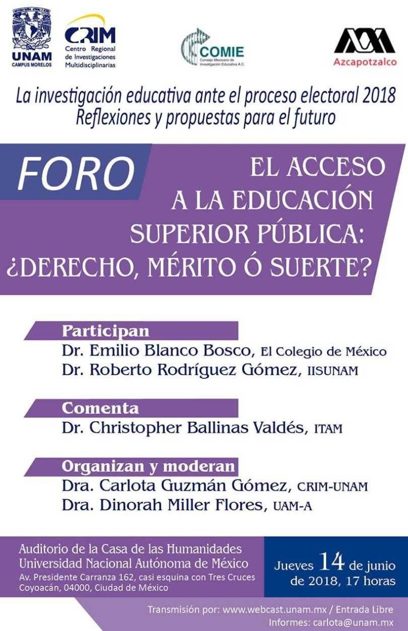 El acceso a la educación superior pública