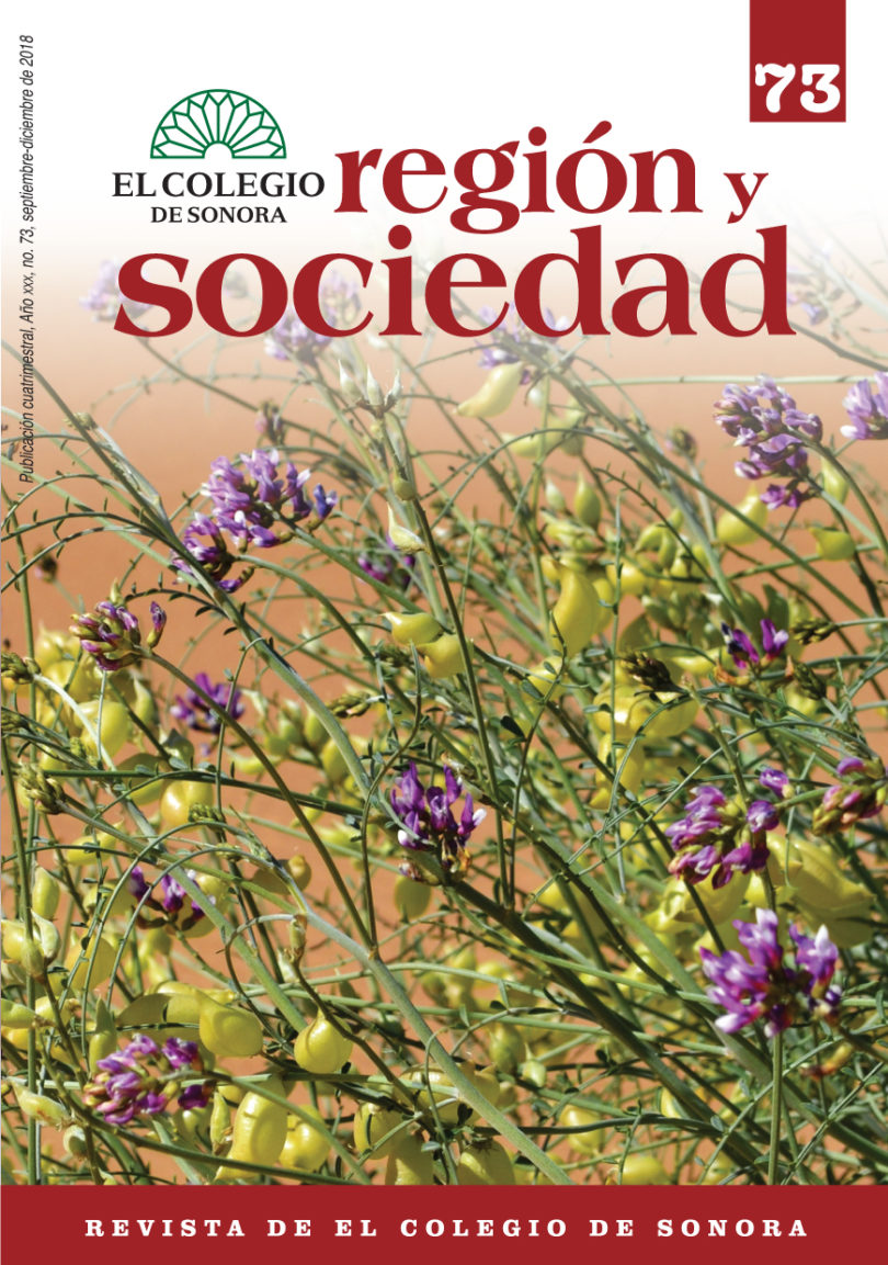 Región y Sociedad No. 73 | COLSON