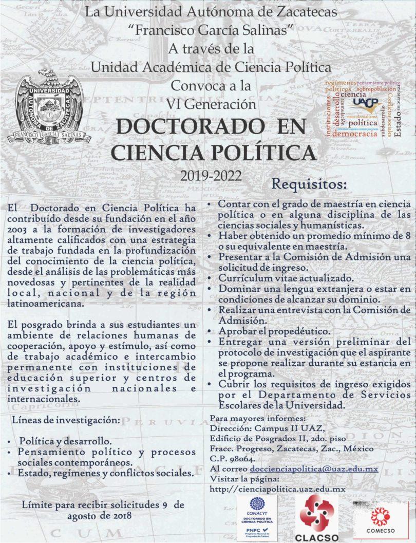 Doctorado en Ciencia Política | UAZ