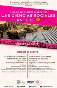 Las Ciencias Sociales ante el 68 | sesiones agosto (II)