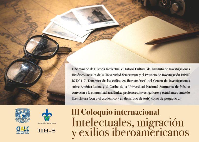 III Coloquio internacional Intelectuales, Migración y Exilio Iberoamericano