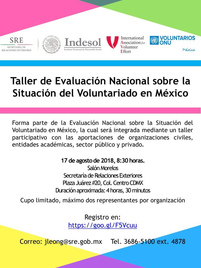 Taller evaluación sobre la situación del voluntariado