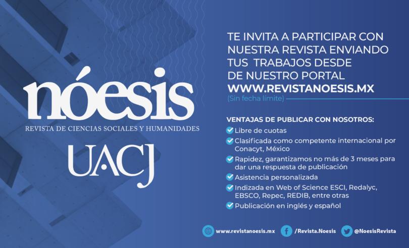 Convocatoria Revista Nóesis