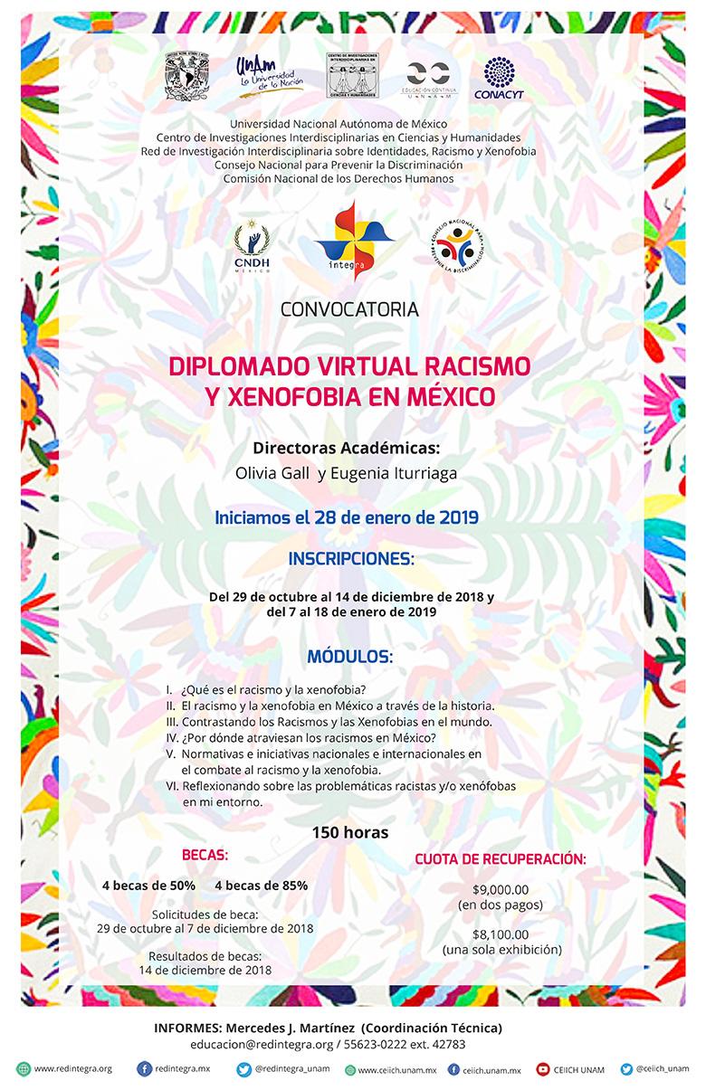 Diplomado Virtual Racismo y Xenofobia en México