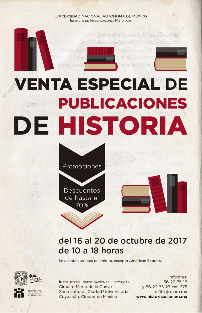 Venta especial de publicaciones de Historia