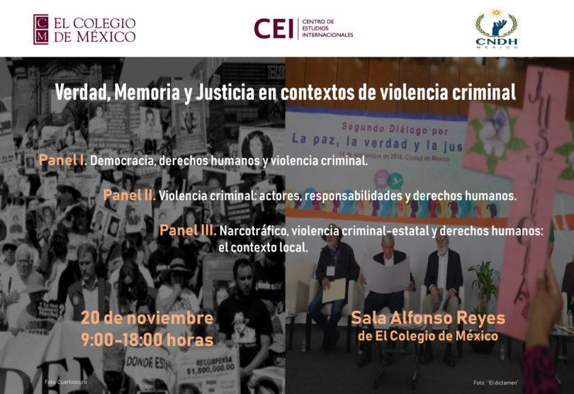 Verdad, Memoria y Justicia en contextos de violencia