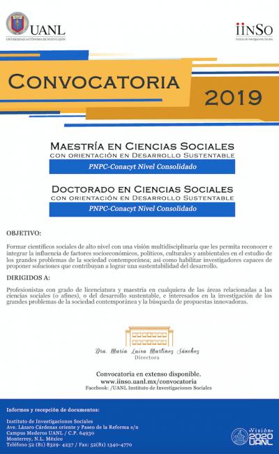 Doctorado en Ciencias Sociales 2019 UANL