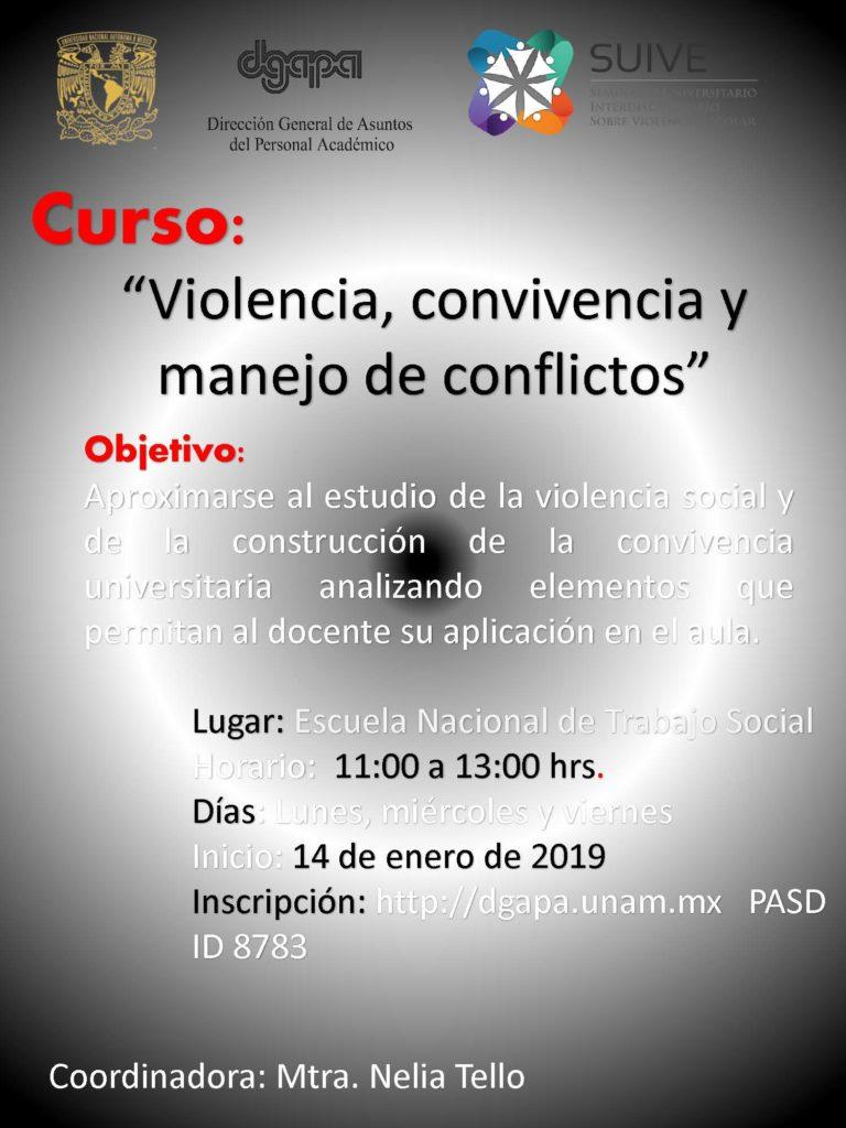 Violencia, convivencia y manejo de conflictos