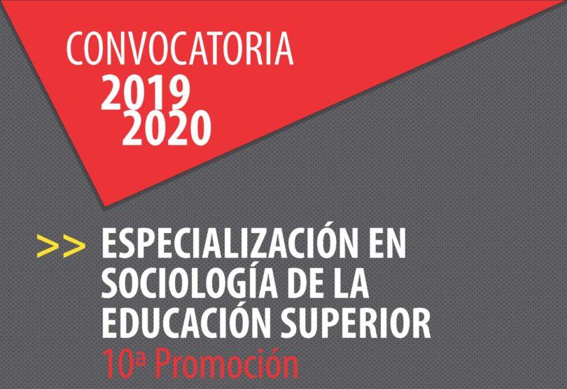 Especialización Sociología de la Educación