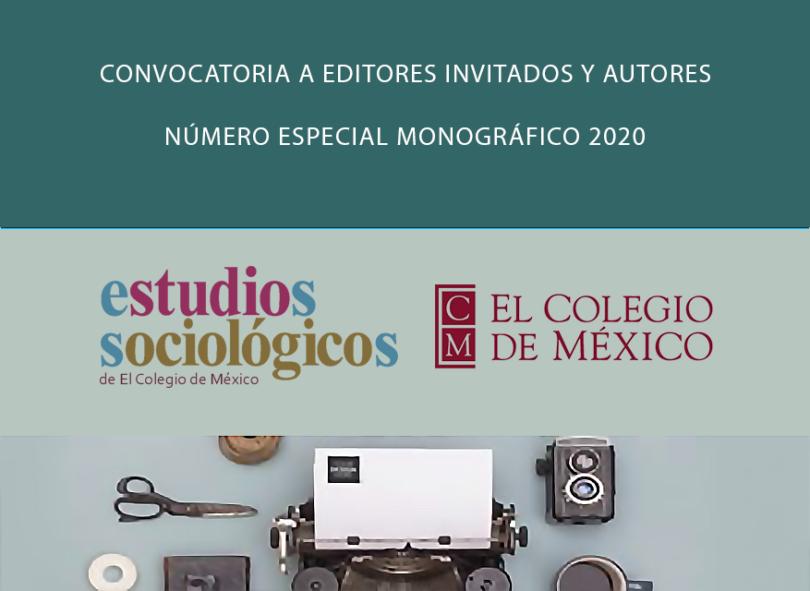 Convocatoria revista Estudios Sociológicos