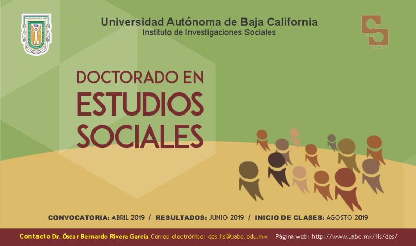 Doctorado en Estudios Sociales- IIS-UABC