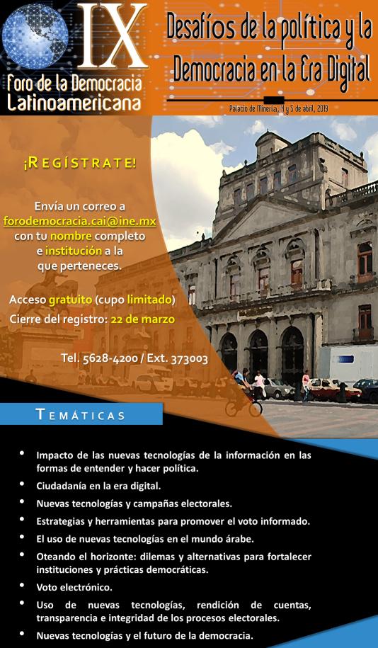 IX Foro de la democracia Latinoamericana