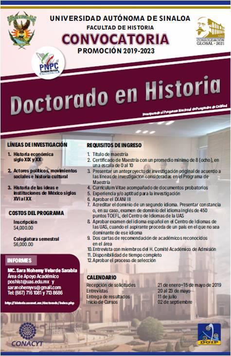 Doctorado en Historia | UAS