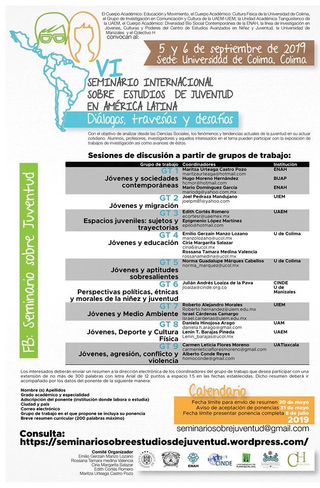 Cartel VI Seminario sobre Estudios de Juventud