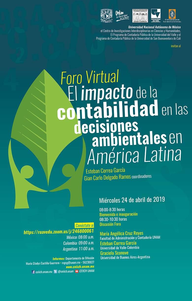 Foro Virtual El impacto de la contabilidad en las decisiones ambientales en América Latina