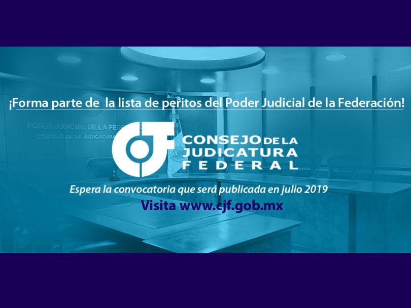 Comunicado para ser parte de la lista de peritos del PJF