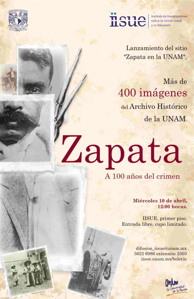Zapata en la UNAM. A 100 años del crimen