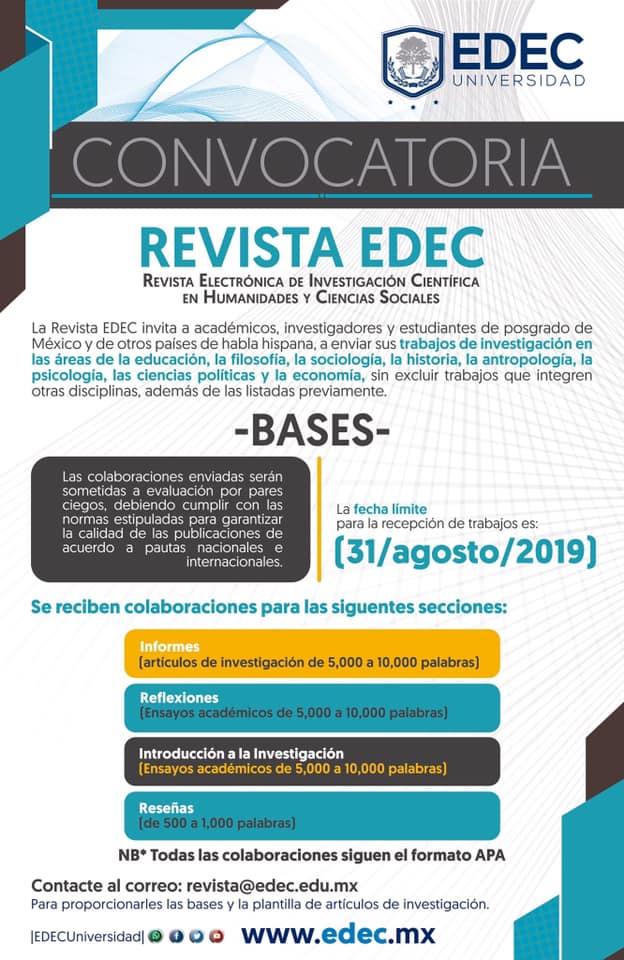 Convocatoria Revista EDEC
