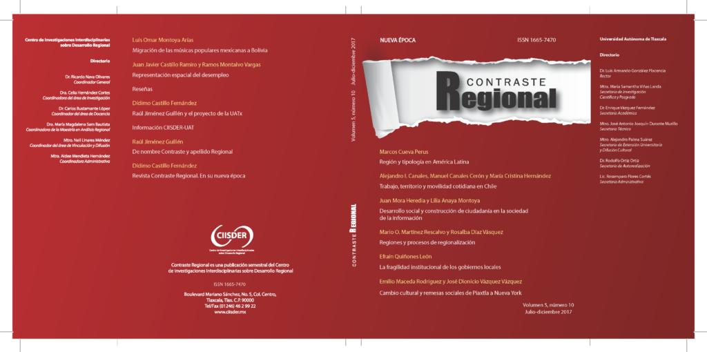 Revista Contraste Regional, núm.10, vol. 5