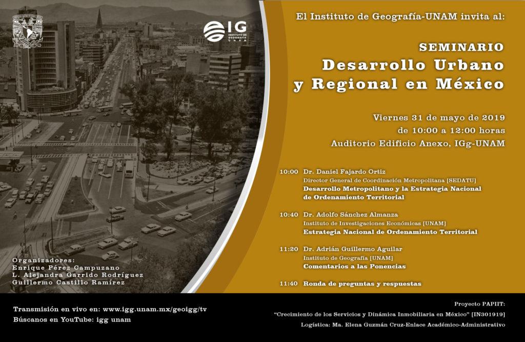 Seminario Desarrollo urbano y regional