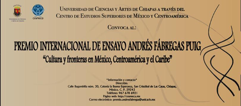 Premio Internacional de Ensayo Andrés Fábregas Puig