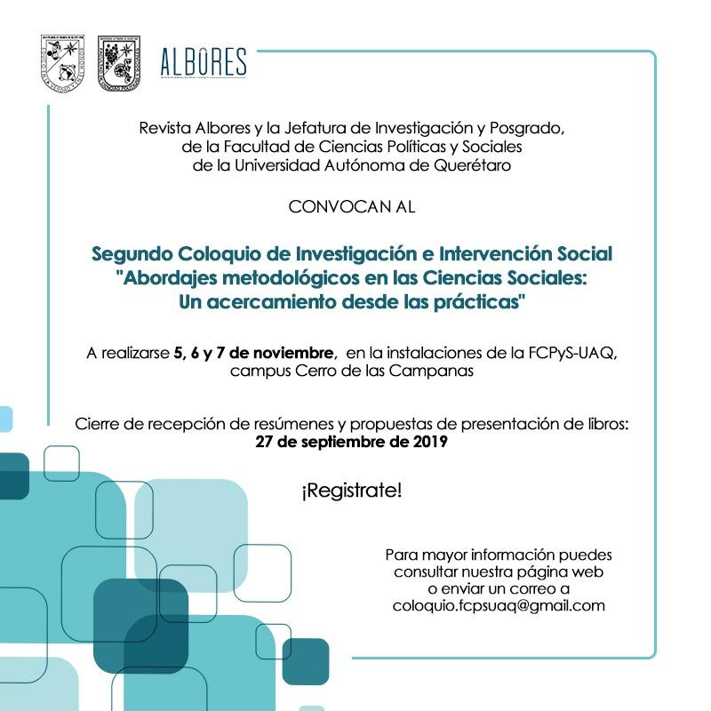 Segundo Coloquio de Investigación e Intervención Social