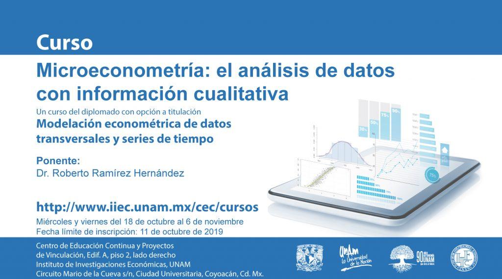 Microeconometría el análisis de datos con información cualitativa