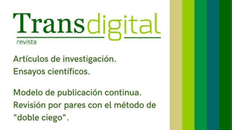 Convocatoria permanente. Revista Transdigital