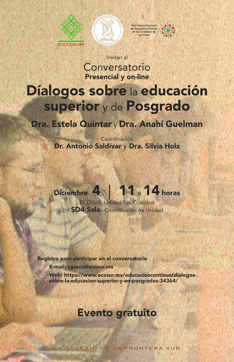 Diálogos sobre la educación superior y de posgrado