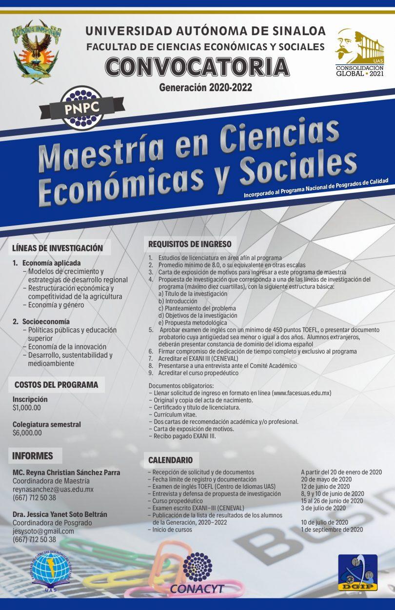 Maestría en Ciencias Económicas y Sociales
